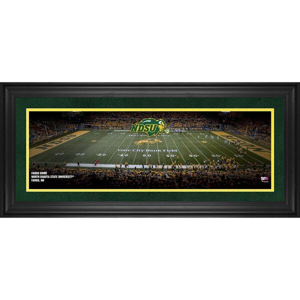 North Dakota State Bison Fanatics Authentic Framed 10 X 30 Fargo Dome Panoramic Photograph Ndsubison Starry Night Starry Artwork