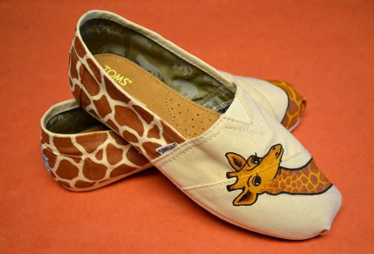 Custom hand painted TOMS shoes (FREE SHIPPING). $150.00, via Etsy.