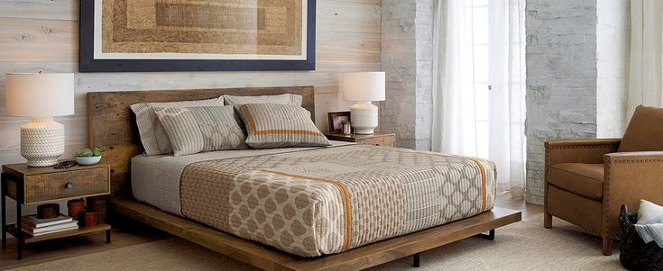 Linear, contemporary bedroom storage from designer Bill Eastburn brings a fusion of Shaker simplicity and Scandinavian warmth to the bedroom. Streamlined styling is softened by rounded, tapered legs and matte bronze button pulls on the dresser's 7 drawers. ^ The Barnes 7-drawer dresser is crafted of solid oak and oak and hardwood veneers and finished a warm smoke brown with a lacquer topcoat. The Barnes 7-Drawer Dresser is a Crate and Barrel exclusive.**Designed by Bill Eastburn of William…