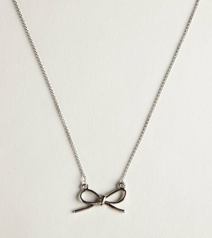 Bow♥: Necklaces American, American Eagle Jewelry, Bows 3, Clothing Accessories, Eagles Necklaces, American Eagles Jewelry, Aeo Silver, Silver Bows, Bows Necklaces