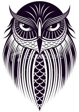 owl illustration. | Owl art, Owl illustration, Owl vector - photo#11