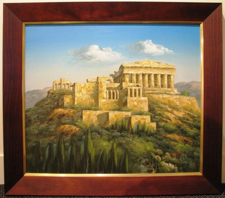 Basilioy original oil titled  The Parthenon