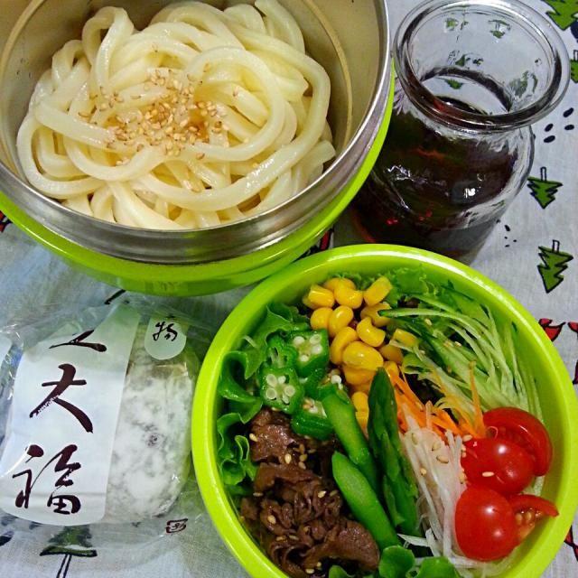 塾のお弁当 - 19件のもぐもぐ - 甘辛お肉でボリュームたっぷり✨サラダうどん by sacco123045