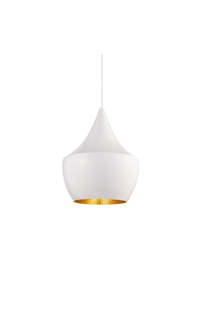 Heal's | Beat White Fat Pendant Light by Tom Dixon - Pendants - Pendants & Chandeliers - Lighting //£255