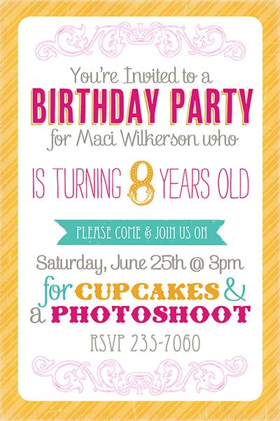 1000 images about Party Invites – Birthday Invitation Model