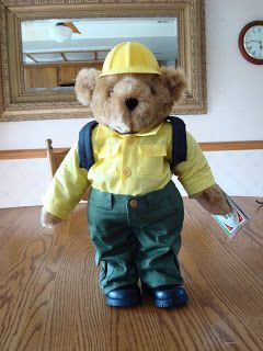 Wildland Firefighter Bear. Going to buy a bear or two and make the clothes.