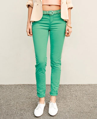 17 Best images about Mint pants! on Pinterest | Chunky scarves ...