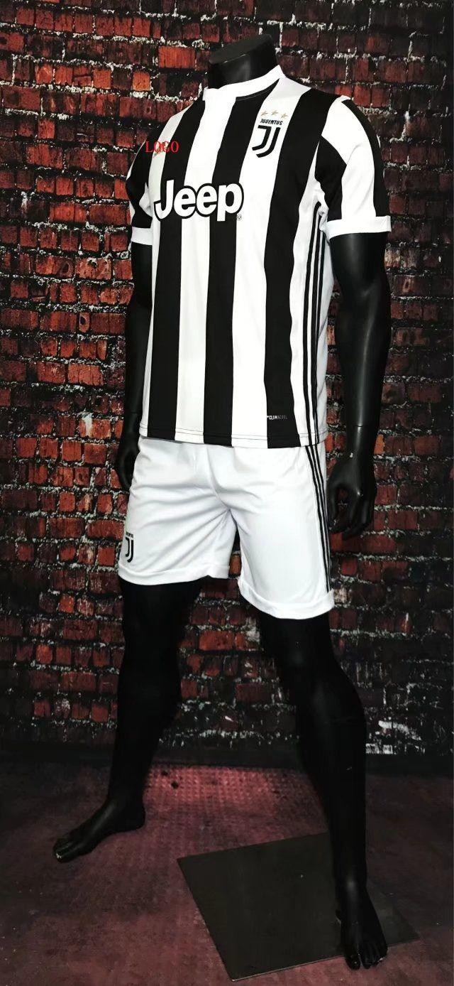 510ee0f4d 17-18 Cheap Adult Juventus Home Soccer Jersey Uniform Black Men Football  Jersey Team For
