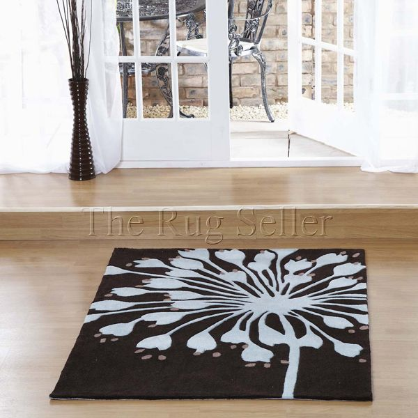 Aspire amur rugs in chocolate blue buy online from the rug seller uk