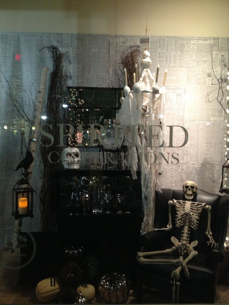 pottery barn halloween window display - Pottery Barn Halloween Decor
