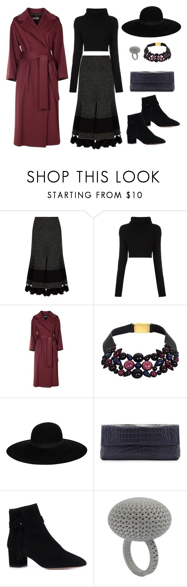 """""""Untitled #92"""" by rookiestyle ❤ liked on Polyvore featuring Proenza Schouler, Valentino, Alberto Biani, Louis Vuitton, Maison Michel, Nancy Gonzalez and Aquazzura"""