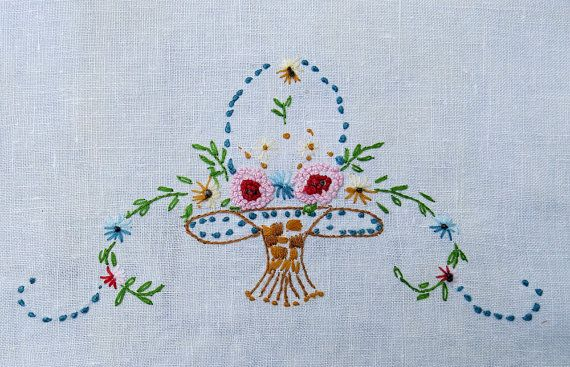 Best images about vintage embroidered linens repurposed