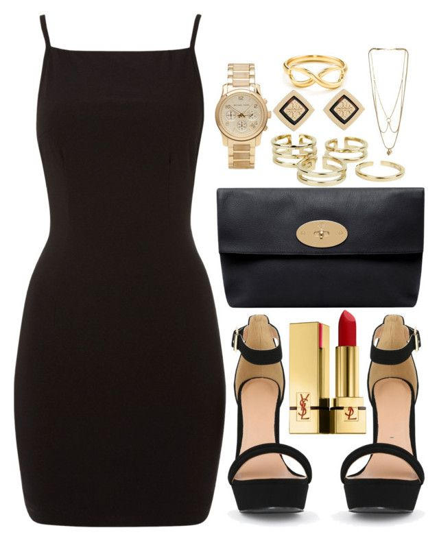 """Untitled #273"" by notchristineanne ❤ liked on Polyvore featuring Tiffany & Co., Mulberry, Michael Kors, Bowie, Tory Burch, MANIAMANIA and Yves Saint Laurent"