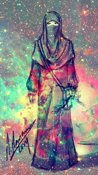 Hijab and universe , universe is inside me if i am in hijab.