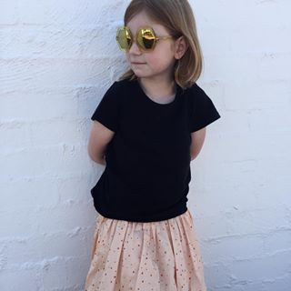 50% off FINAL SALE on Sons + Daughters eyewear. Only one size in most pairs so be quick.  30% off Mini Rodini, Hope is wearing the Dot skirt and Honey sunglasses in yellow jelly.  www.jellydoor.com.au