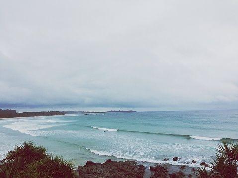 Waves Breaking On Beach