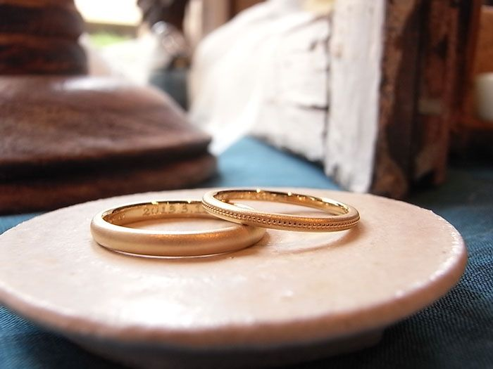 yellow gold marriage ring - 宝石修飾工房