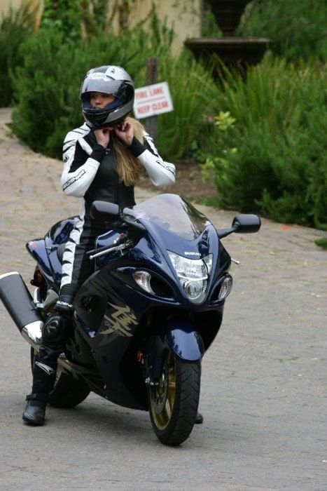 Sportbikedm Female Rider On Hayabusa More Balls Than Me