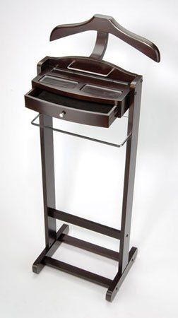 DARK Walnut MENS CLOTHES VALET ... every man should have one.