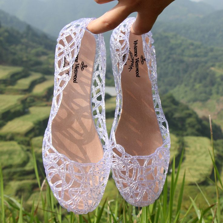 Women Slippers Sparkling Crystal Jelly Shoes