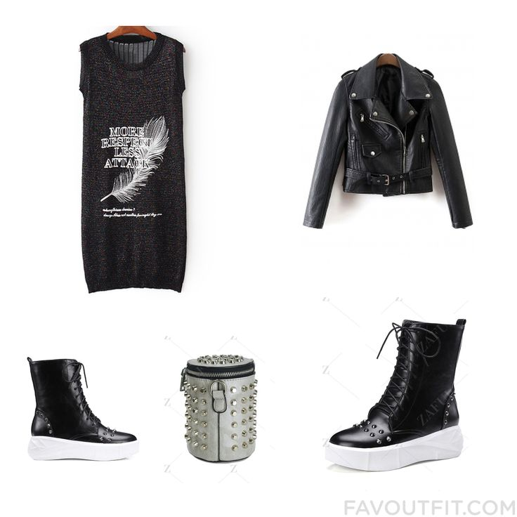 Style Stuff Featuring Dress Zipper Jacket Ankle Booties And Ankle Bootie Boots From November 2016 #outfit #look