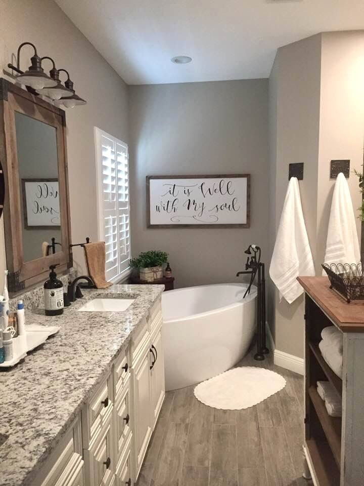 Rustic Bathroom Decoration Farmhouse Bathroom Decor Farmhouse Master Bathroom Small Bathroom Remodel
