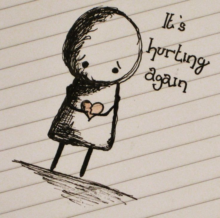 Sad Quotes About Love Hurting: It Is Hurting Again This Is Words And Sketch Picture ~ Mactoons Life Inspiration