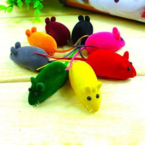 Catnew Cute Faux Little Mouse Squeak Noise Sound Rat Playing Toy