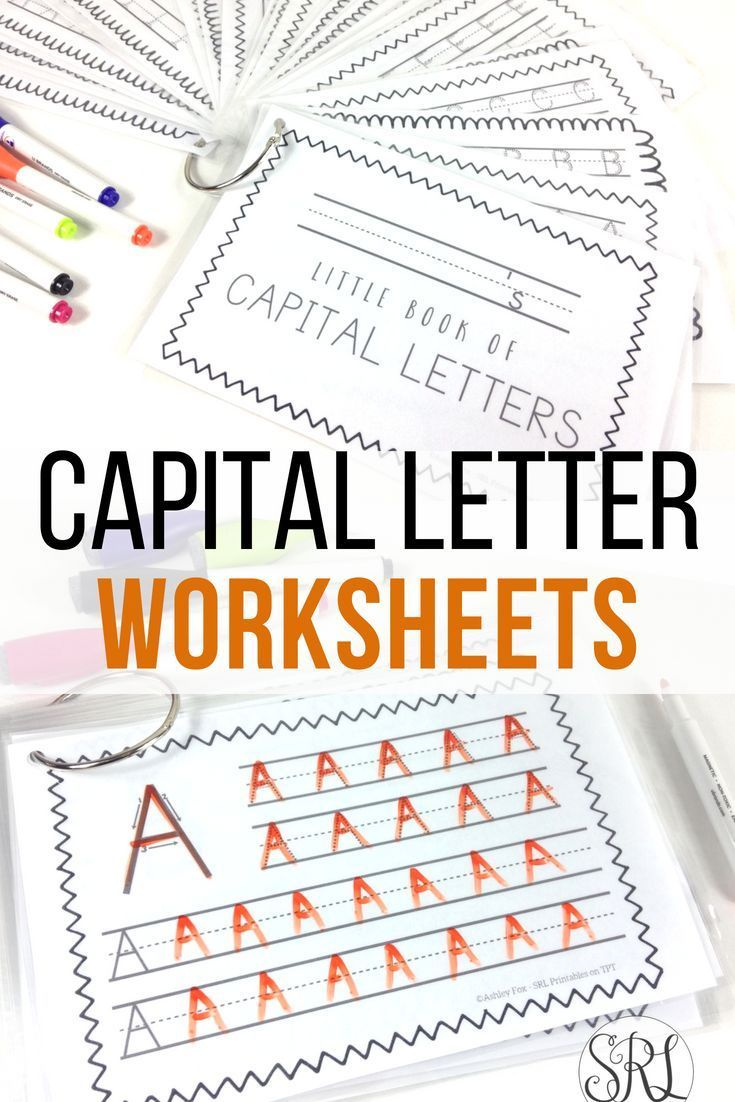 Capital Letter Handwriting Pages, Uppercase Writing