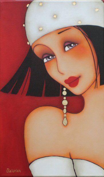 Acrylique sur toile de Corinne Reignier (1963 en Franche Comté). Artiste qui vit et travaille à Nantes.