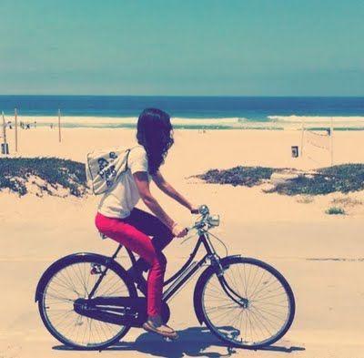 beach bike ride....every day.