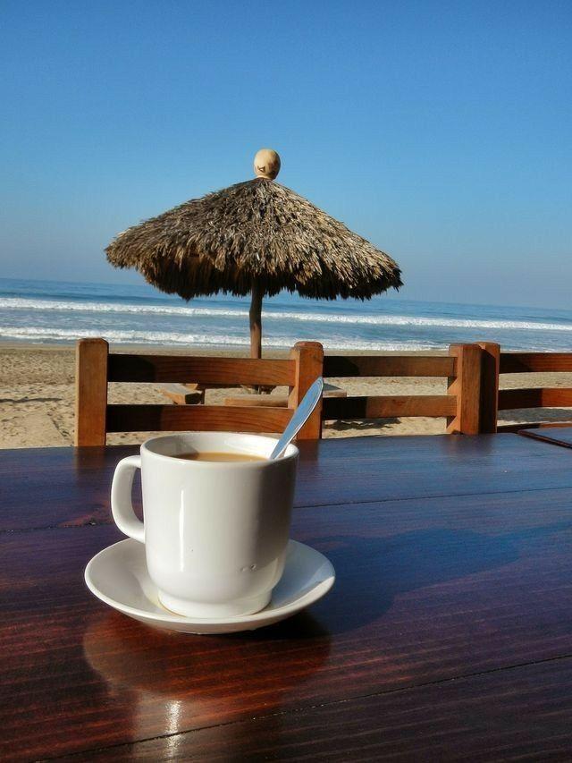 Открытки, открытка с добрым утром на пляже