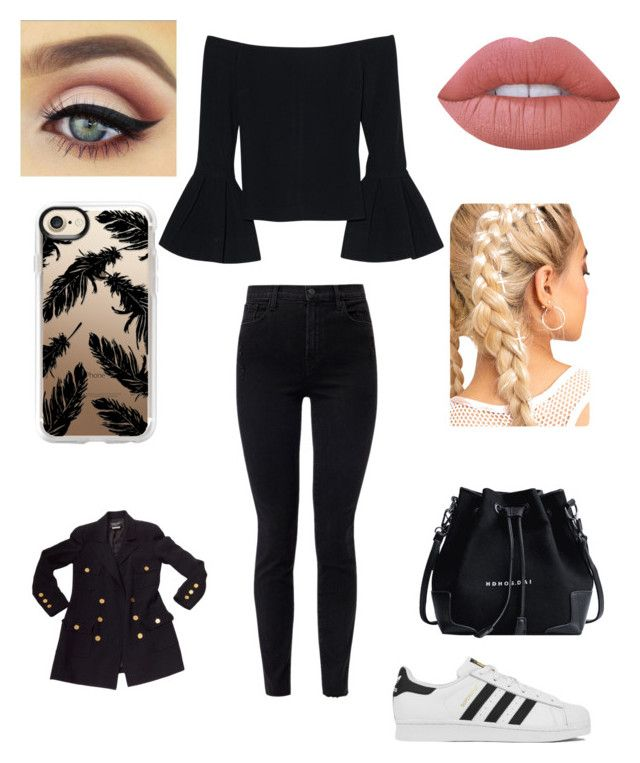 """Ah:) iubesc sa fiu iubita;)"" by mara-calinescu on Polyvore featuring Alexis, J Brand, adidas, Chanel, Casetify and Lime Crime"
