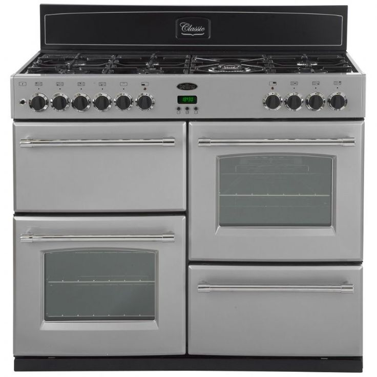 belling classic 100gtsil 100cm gas range cooker appliance city