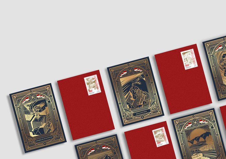 Nusantara Indonesian Wine, Stamps, Postcards, and Cards — The Dieline - Branding & Packaging Design