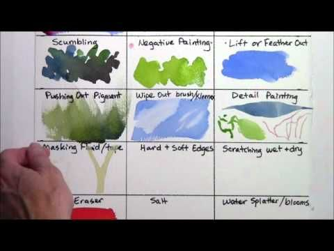 Watercolor Techniques for Beginners REMAKE part 2 of 4