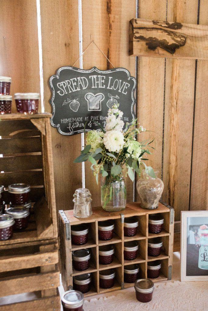 Jam favors | Spread the Love | Shelley & Robb | Barn at Cedar Grove | Tracy Burch Photography