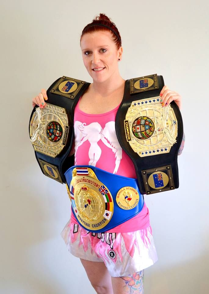 """Natasha """"Rainbow Warrior"""" Sky, our amazing and talented sponsored Muay Thai fighter, know her and love her as much as we do!"""