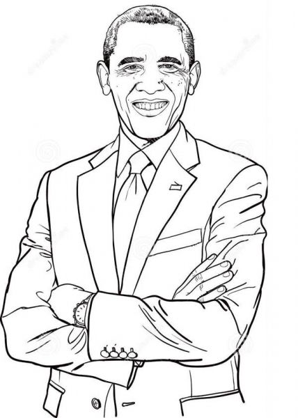 Barack Obama Coloring Pages Printable Sketch Coloring Page