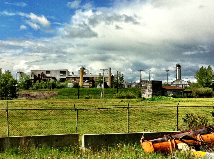 Turner valley Alberta Canada  Abandoned oil refinery shot with my iPhone