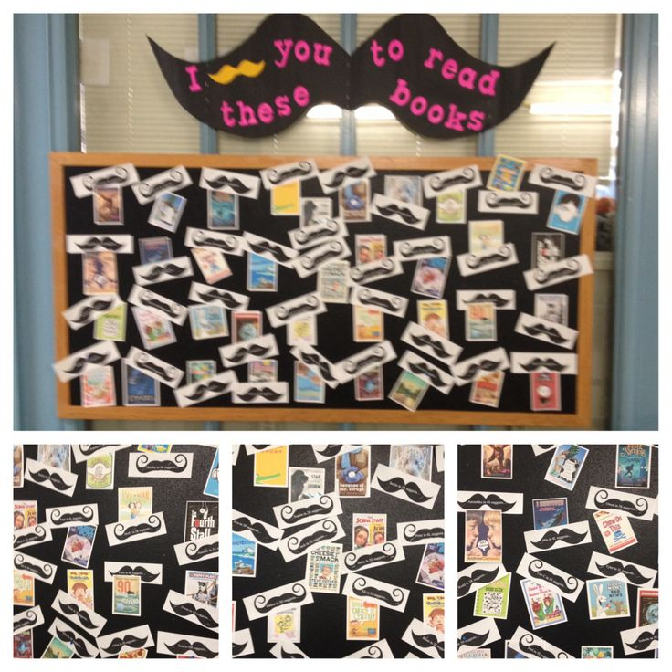 I mustache you to read this book!  Students make recommendations for board...