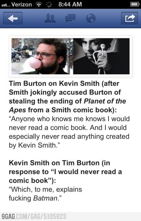 Kevin Smith wins one for comic book fans everywhere!