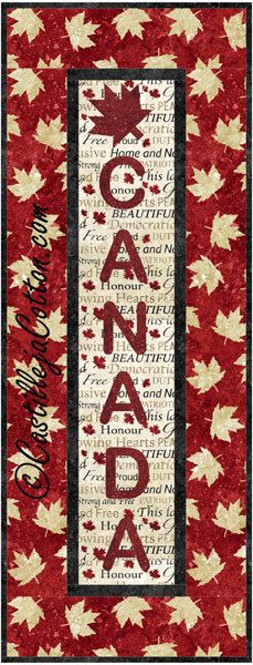 Canada Panel Quilt Pattern Fabrics: www.northcott.net Stonehenge Oh Canada