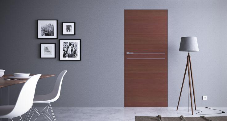 Aosta 2 - Veneered doors with hidden frame