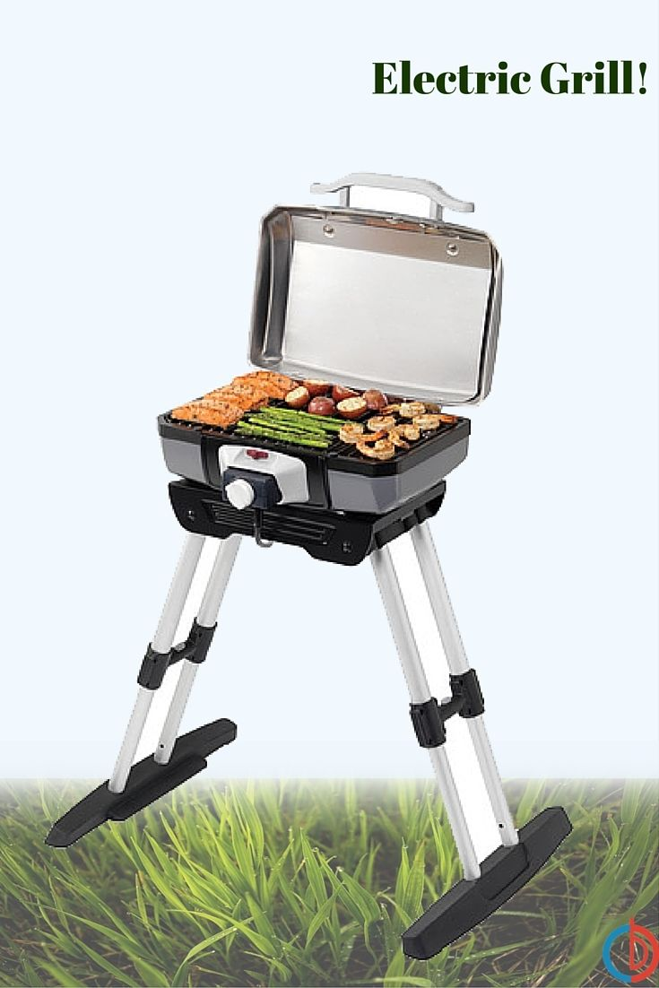 Cuisinart outdoor electric grill with adjustable