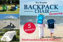 Enter for a chance to WIN the RIO Brands Backpack Chair Giveaway! There will be 5 lucky winners. Go to the beach in style this summer with these RIO Brands Backpack Chairs and Umbrella. Enter NOW through July 31st, 2017. http://woobox.com/d2fj9c