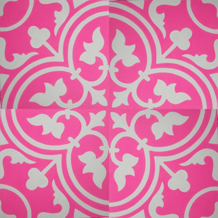 VN Pink 03 Portugese cementtegel van Designtegels.nl