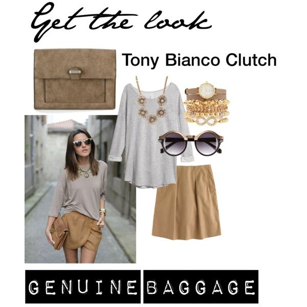 """""""TONY BIANCO CLUTCH- GENUINE BAGGAGE"""" by baggage on Polyvore"""
