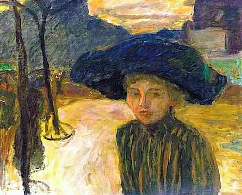 Pierre Bonnard (French, 1867-1947) - The Woman in Blue Hat, 1908