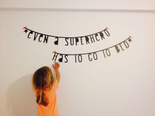 #Wordbanner #tip - Even a superhero has to go to bed - Buy it at www.vanmariel.nl - € 11,95